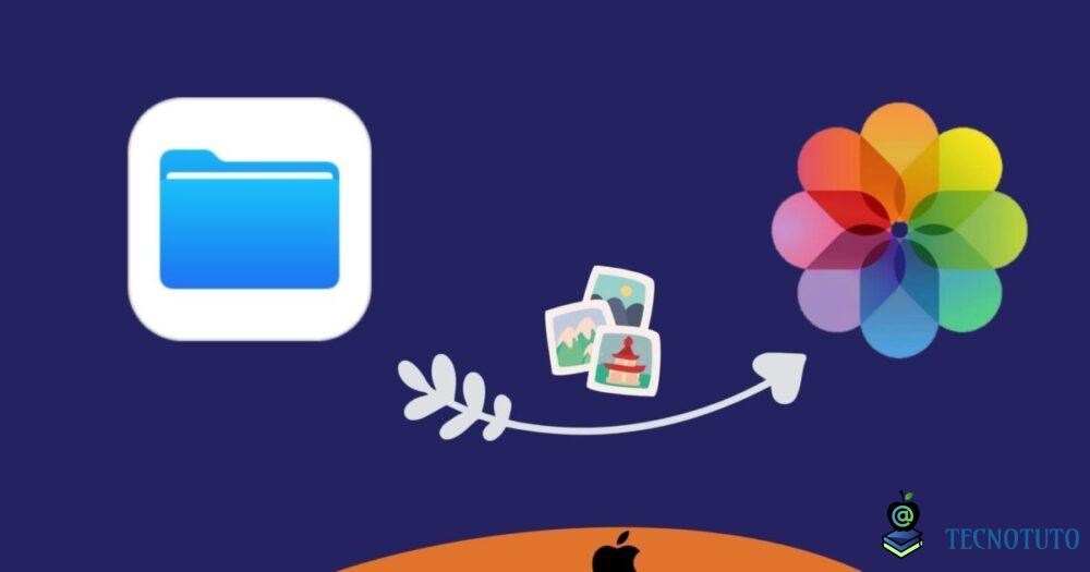 save pictures from files app to photos app iphone ipad fr